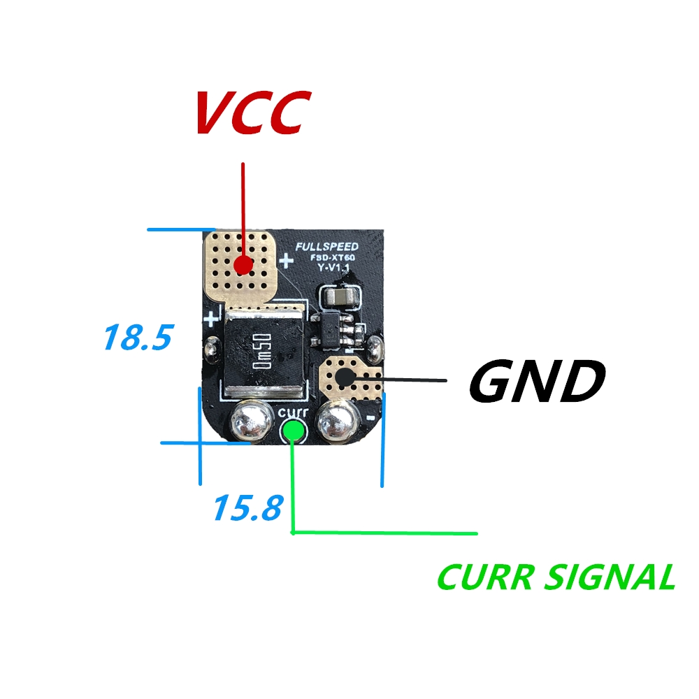 FSD Amass XT60 Current Sensor