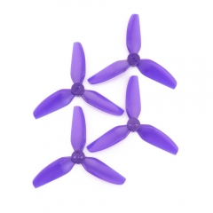 HQProp DP 3x3x3 PC Propeller - 3 Blade (Light Purple- Set of 4) for Leader 3/3SE