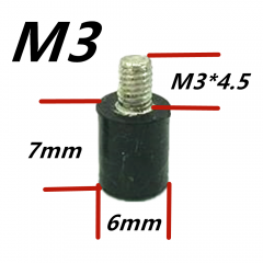 M3x7+4.5 Anti Vibration Standoffs 4pcs. per bag
