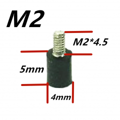 M2x5+4 Anti Vibration Baby Standoffs 4pcs. per bag