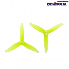 Gemfan 3016 3 Inch 3-blade PC Propeller  Yellow 2mm Hole 2 Pairs